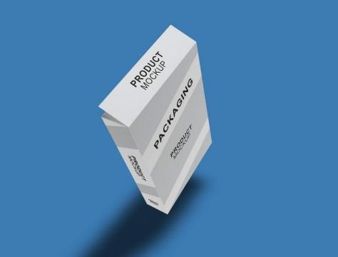 A4办公室打印专用纸包装盒样机图片免抠设计素材