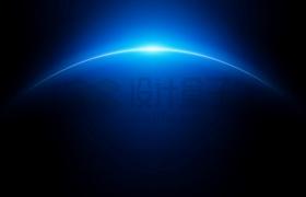 蓝色星球地球太空视角日出阳光效果背景图png图片素材