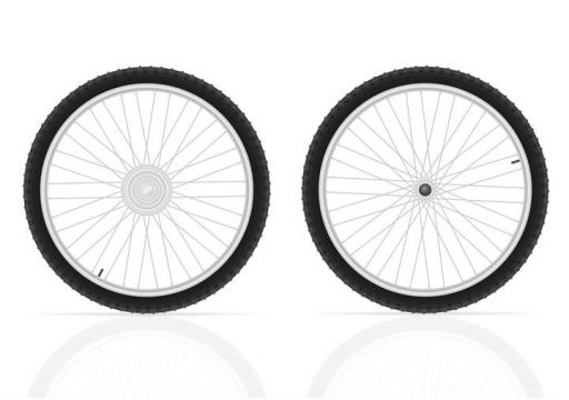 山地自行车的轮胎图片免抠素材