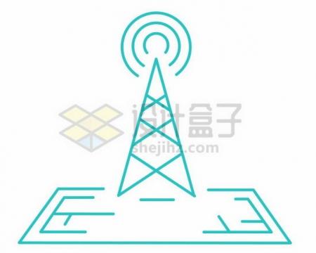 无线信号发射线条标志png图片素材