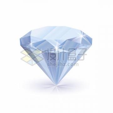 自带光泽的透明色切割钻石宝石png图片免抠矢量素材