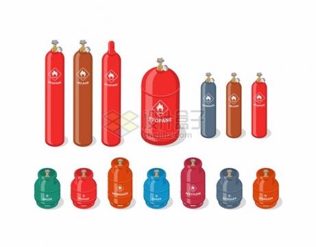 各种形状的煤气罐二氧化碳罐等气体罐221176png图片素材