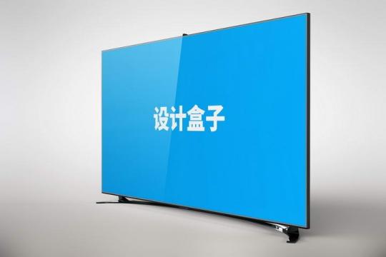 超薄液晶电视显示样机图片设计模板