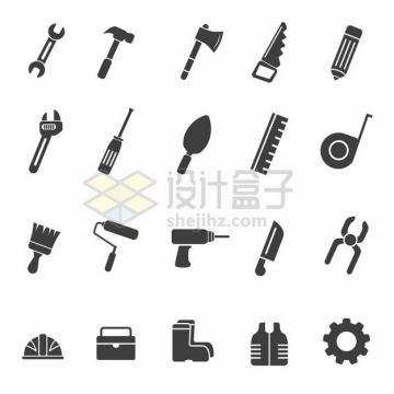 黑色电工木工工具图标352217png图片素材