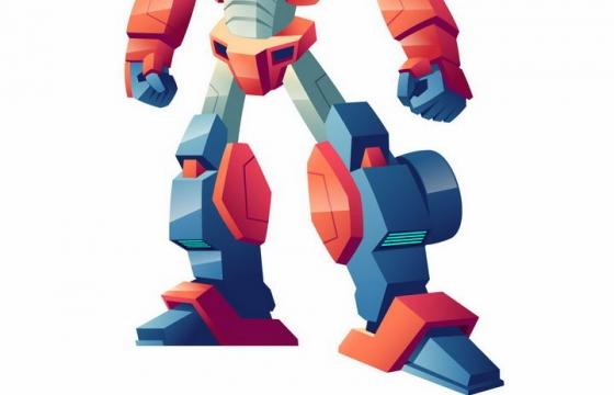 卡通漫画风格可以变形为红色跑车的变形金刚机器人图片png免抠素材