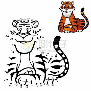 儿童绘画游戏画一个老虎png图片免抠素材