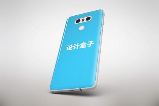 白色智能手机模型背面显示样机免抠图片设计素材