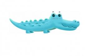 超可爱的蓝色卡通鳄鱼扬子鳄639885png图片免抠素材