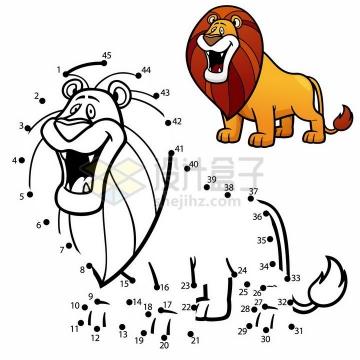 儿童绘画游戏画一只狮子png图片免抠素材