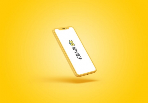 黄色的苹果iPhone 11 Pro手机屏幕显示样机PSD图片模板