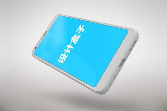 白色智能手机模型屏幕显示样机底部数据接口展示免抠素材