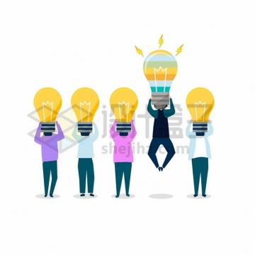 卡通拟人化象征了点子的电灯泡png图片素材