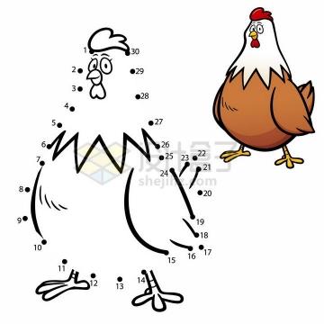 儿童绘画游戏画一只公鸡png图片免抠素材