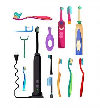 各种牙刷电动牙刷个人卫生洗漱用品刷牙工具图片免抠素材