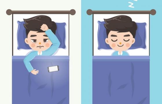 卡通睡不着失眠图片免抠素材