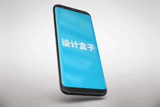 黑色智能手机模型屏幕显示内容样机图片素材