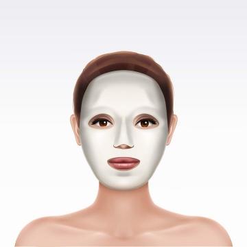 贴敷面膜的美女头像图片免抠素材