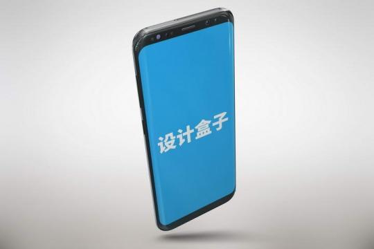 顶部视角的黑色智能手机屏幕内容显示样机图片设计素材